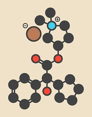 Glycopyrronium Bromide Drug Molecule Poster by Molekuul