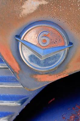 Gmc 4000 V6 Pickup Truck Emblem Poster by Jill Reger