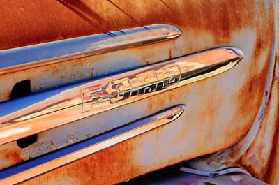 Gmc 4000 V6 Pickup Truck Side Emblem Poster