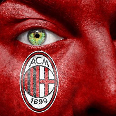 Go Ac Milan Poster by Semmick Photo