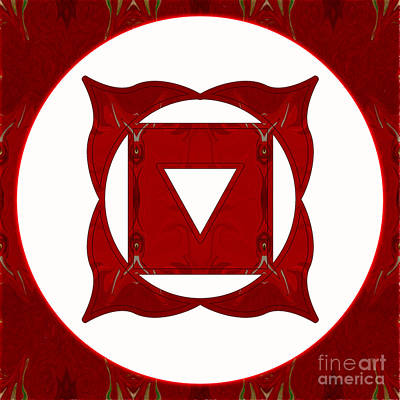 Go Deep Abstract Chakra Art By Omaste Witkowski Poster