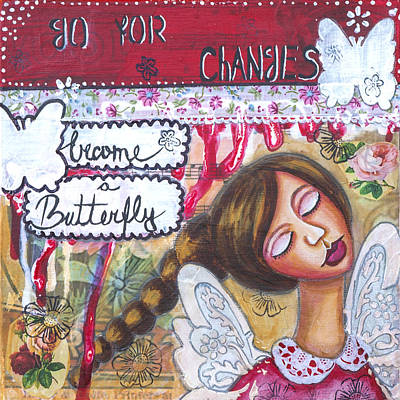 Go For Changes Inspirational Art Poster