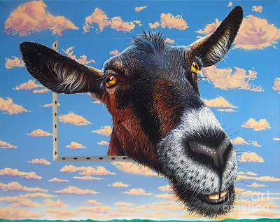 Goat A La Magritte Poster by Jurek Zamoyski