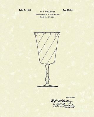 Goblet 1926 Patent Art Poster by Prior Art Design