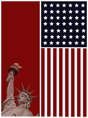 God Bless America Poster by Celestial Images
