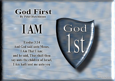 God First Poster by Bible Verse Pictures