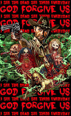 God Forgive Us Poster by Timothy Phillips