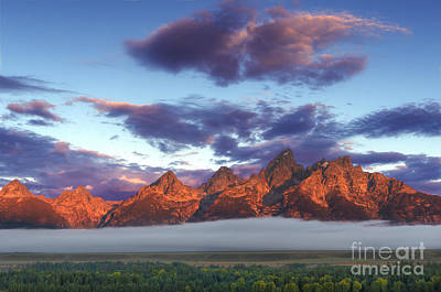 God Morning Tetons Poster