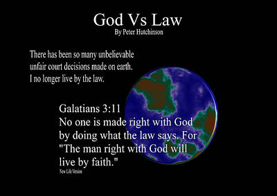 God Vs Law Poster