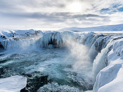 Godafoss Waterfall Of Iceland Poster by Martin Zwick