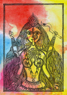 Goddess Kali Poster by Shishu Suman