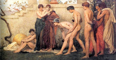 Gods At Play Poster by William Blake Richmond