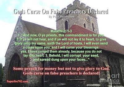 Gods Curse On False Preachers Declared Poster