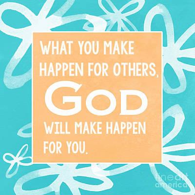 God's Gift - Blue Poster