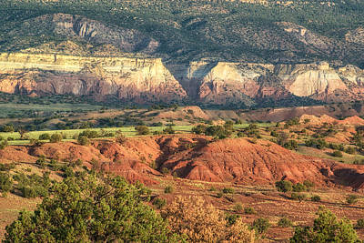 God's Palette Abiquiu Ghost Ranch New Mexico Poster by Silvio Ligutti