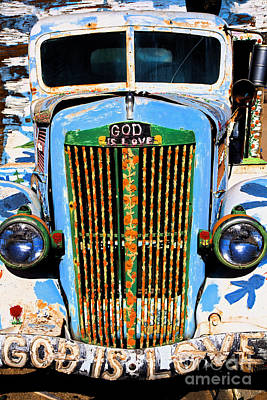 Gods Truck Poster by Jim West