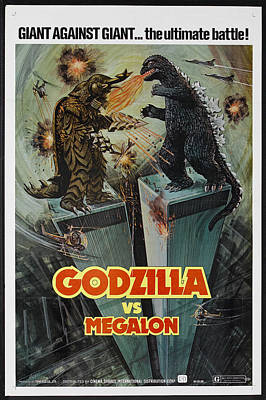 Godzilla Vs Megalon Poster Poster by Gianfranco Weiss