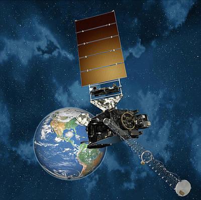 Goes-r Satellite In Orbit Poster