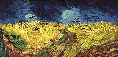 Gogh, Vincent Van 1853-1890. Wheat Poster by Everett