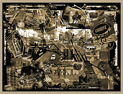 Goin' To Kansas City - Grunge Collage Poster