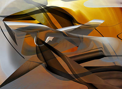 Poster featuring the digital art Going Brown Abstract by rd Erickson