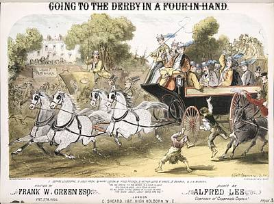 Going To The Derby, 1870 Song Poster