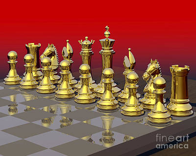 Gold Brigade Chess Poster by Lori Lejeune