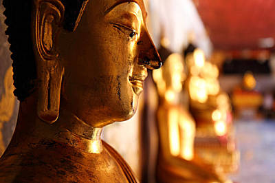 Poster featuring the photograph Gold Buddha At Wat Phrathat Doi Suthep by Metro DC Photography