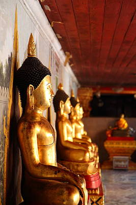 Gold Buddha - Wat Phrathat Doi Suthep - Chiang Mai Thailand - 01133 Poster by DC Photographer