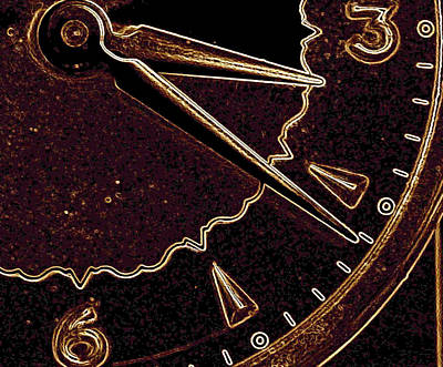 Poster featuring the photograph Gold Clock by Michael Dohnalek