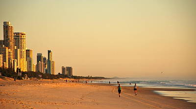 Poster featuring the photograph Gold Coast Beach by Eric Tressler