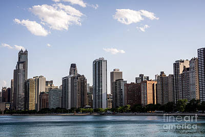 Gold Coast Chicago Skyline Poster by Paul Velgos