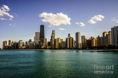 Gold Coast Skyline In Chicago Poster by Paul Velgos