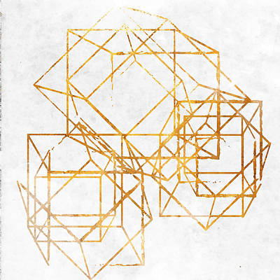 Gold Cubed II Poster by South Social Studio
