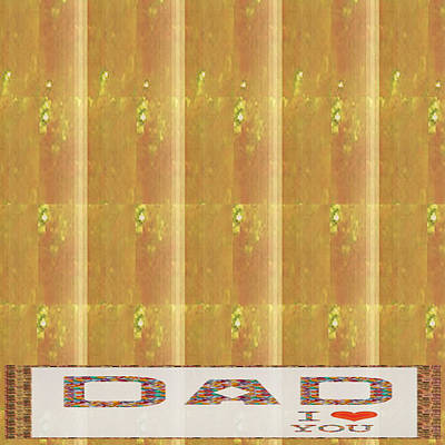 Gold Embossed Foil Art For Dad  Digital Graphic Signature   Art  Navinjoshi  Artist Created Images T Poster by Navin Joshi