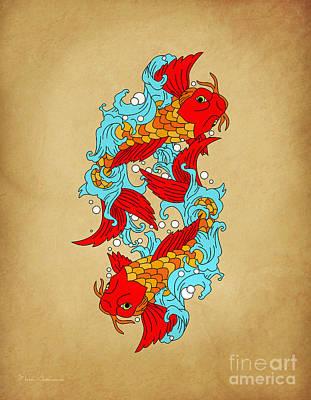 Gold Fish Poster by Mark Ashkenazi