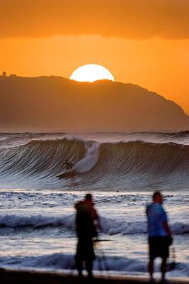 Gold Kaena Sunset Poster