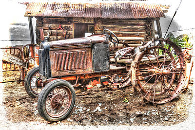 Gold King Mine Rusting Tractor Poster by Robert Jensen