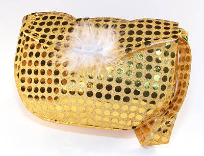 Gold Sequin Purse Poster