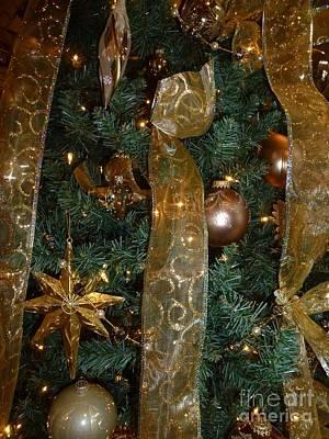 Gold Tones Tree Poster
