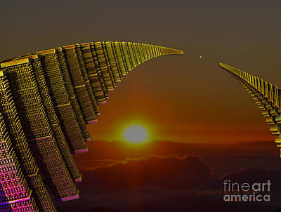 Poster featuring the digital art Golden Arches by Melissa Messick