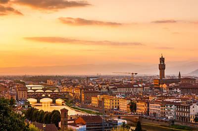 Golden Arno River Poster