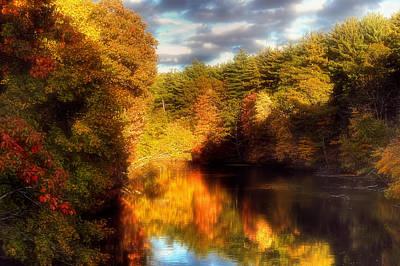 Golden Autumn Poster by Joann Vitali