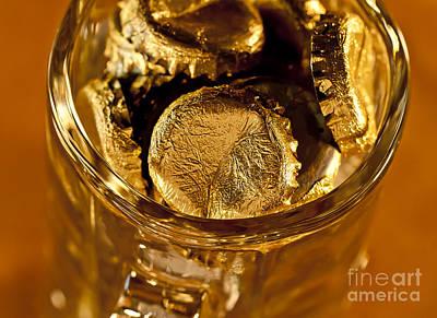 Golden Beer  Mug  Poster by Wilma  Birdwell