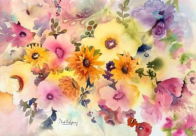 Golden Blossoms Poster by Neela Pushparaj