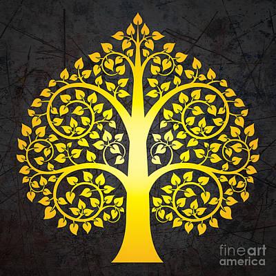 Golden Bodhi Tree No.3 Poster