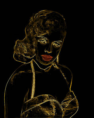 Golden Bombshell Man Ray Homage Poster by Brian King