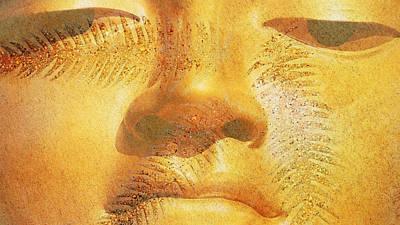 Golden Buddha - Art By Sharon Cummings Poster by Sharon Cummings