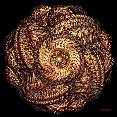Golden Celtic Mandala Poster