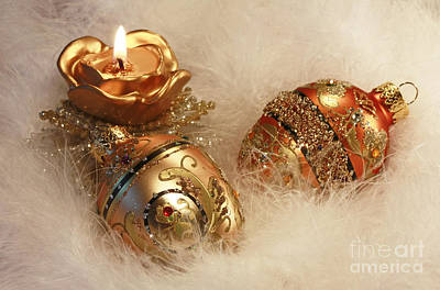 Golden Christmas Moments Poster by Inspired Nature Photography Fine Art Photography
